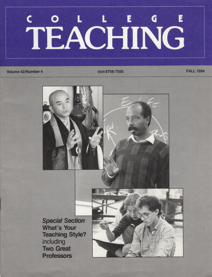 College Teaching Fall 1994 cover