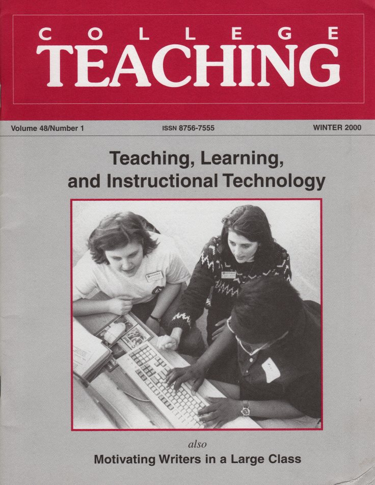 College Teaching Winter 2000 cover