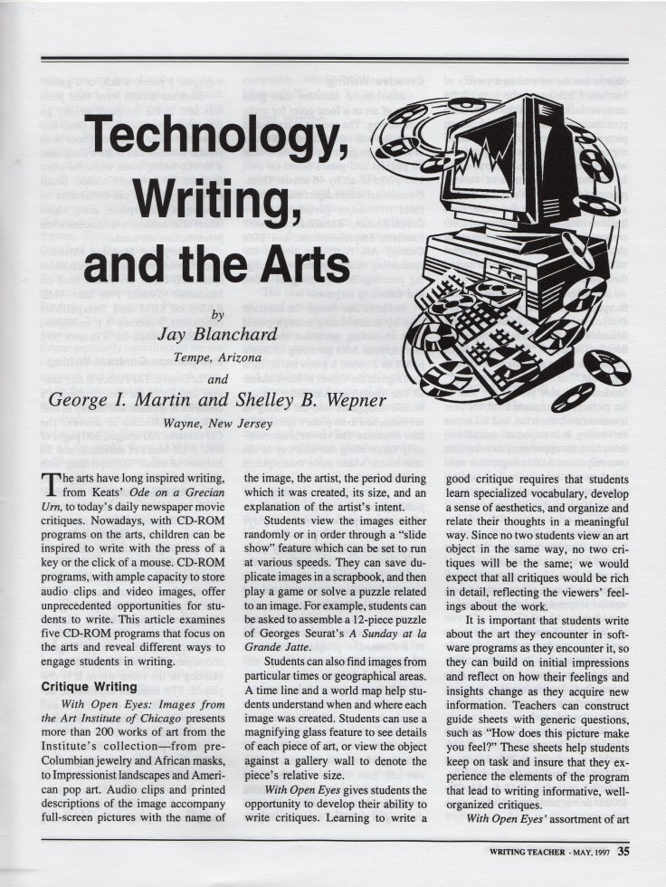 Technology, Writing, and the Arts page 35